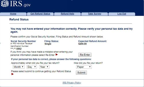 Telefono del IRS, ayares o hayares en español