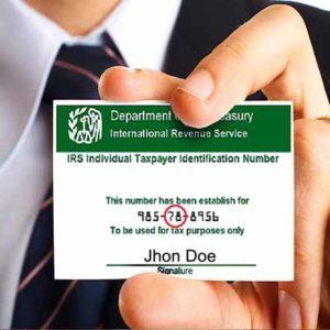 Tramite de un ITIN number o Tax ID