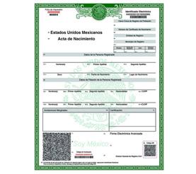 acta de nacimiento para sacar tu ITIN number o tax id